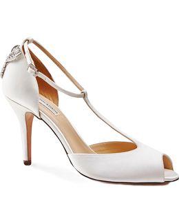 Martha Peep Toe T-bar Sandals