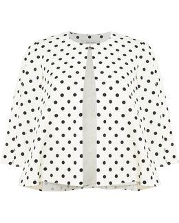 Polka Dot Print 3/4 Sleeved Topper