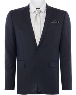 Men's Pelham Shawl Pindot Slim Fit Suit Jacket