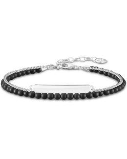 Love Bridge Obsidian Double Bracelet