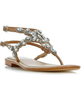 Nuevo Double Strap Embellished Sandals