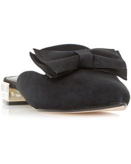 Doe Bow Point Flat Mules