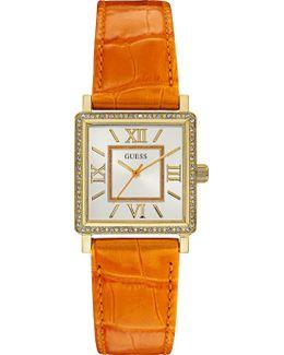 W0829l10 Ladies Leather Strap Dresswatch
