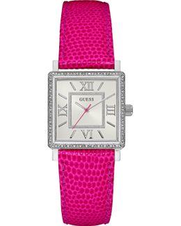 W0829l12 Ladies Leather Strap Dresswatch