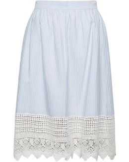 Nuru Schiffley High Waisted Lace Skirt