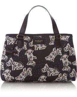 Folk Dog Medium Multi Compartment Handbag