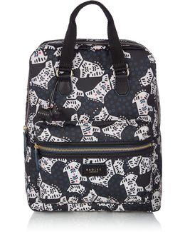 Folk Dog Large Zip Backpack