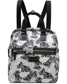 Folk Dog Medium Zip Backpack
