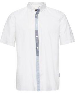 Poplin Patchwork Placket Shirt