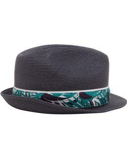 Happyg Printed Trilby Hat