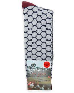 Divvet Two Tone Golf Spot Sock