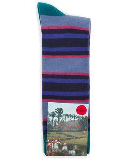 Birdee Stripe Golf Sock