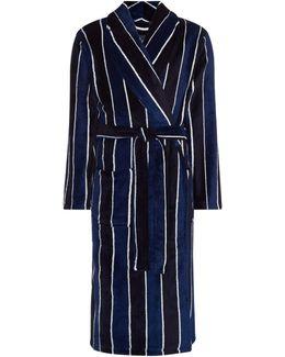 Fleece Stripe Dressing Gown