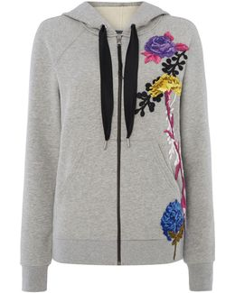 Carrara Floral Embroidered Hoody