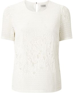 Geo Lace Ss Jersey Top