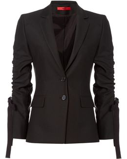 Amilli Blazer With Ruched Sleeves