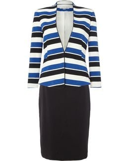 Solid Stripe Suit Jacket