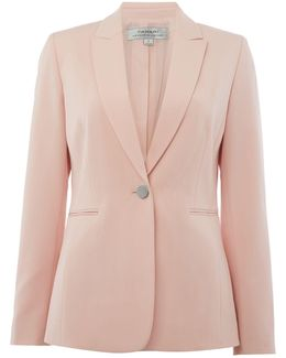 Pastel Pink Lapel Cross Jacket