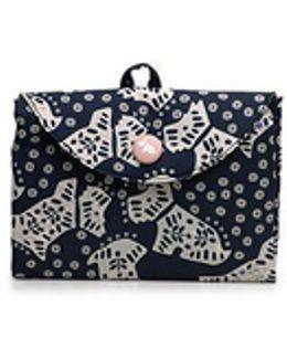 Folk Dog Foldaway Tote Bag