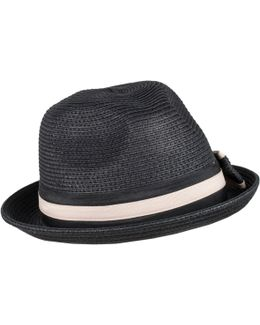 Womens Two Tone Paperstraw Hat