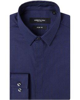 Steinway Slim Fit Textured Shirt