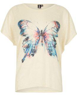 Single Butterfly Print Top
