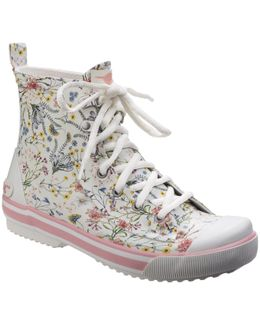 Rainy Lace Up Rubber Rain Boots
