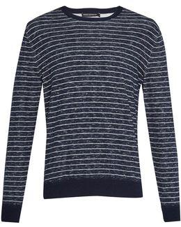Men's Plaited Stripe Knit Jumper