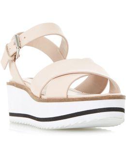 Kassius White Flatform Sandals