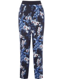 Tropical Orchid Soft Trouser