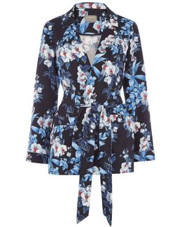 Tropical Orchid Soft Blazer