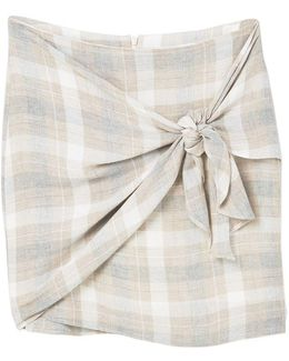 Knot Checked Skirt