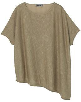 Asymmetric Linen Sweater