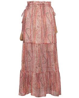 Malika Sheer Paisley Maxi Skirt