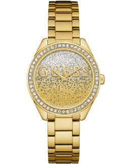 W0987l2 Ladie`s Gold Plated Dress Watch