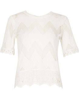 Zig Zag Lace Top