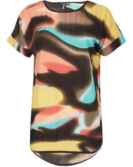 Maple Print T-shirt Top