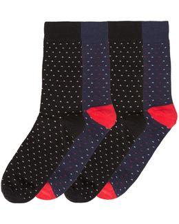 4pk Jacsky Dot Ankle Sock
