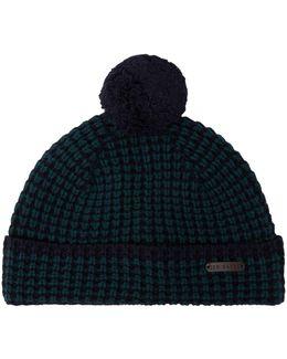 Merino Wool Knitted Beanie Hat