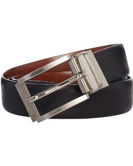 Reversible Textured Leather Belt