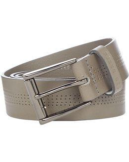 Centre Texture Leather Belt