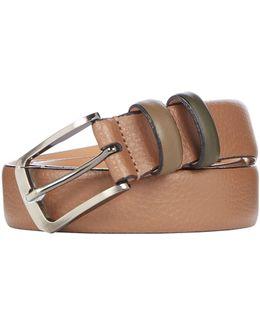 Coloured Leather Keeper Belt