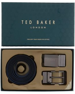 Leather Belt In A Box Gift Set
