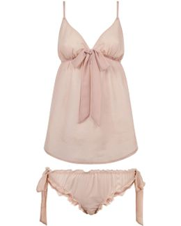 Phoebe Chemise And Tie-side Knicker