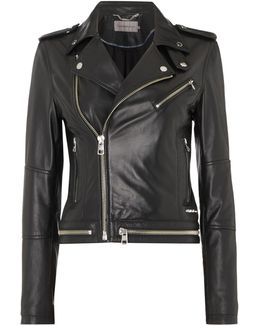 Moza Biker Jacket In Soft Leather