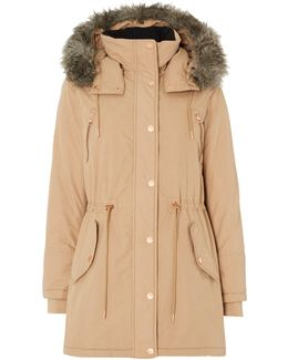 Ottaline Padded Faux Fur Lined Hooded Coat