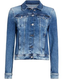 Long Sleeves Denim Jackit With Front Pockets