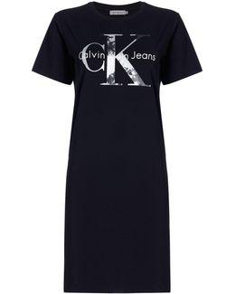 Short Sleeves True Icon Ck Logo Dress