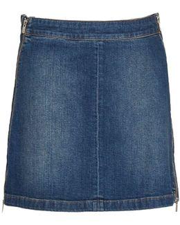 Canterbury Zipped Denim Skirt