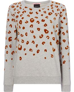 Leopard Relaxed Fit Sweat